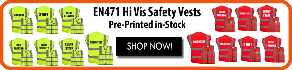 Banksman Pre Printed Hi Vis Safety Vest Waistcoat EN ISO 20471