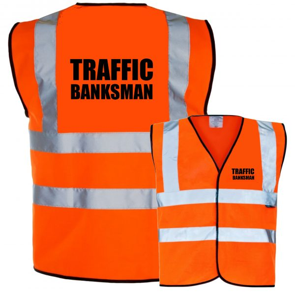 Hi Viz Waistcoat EN ISO 20471 Traffic Banksman Pre Printed Hi Vis Safety Vest