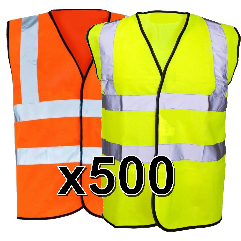 6 colors optional Hi Vis Vest Yellow M-3XL 2 Band /& Brace L, Yellow
